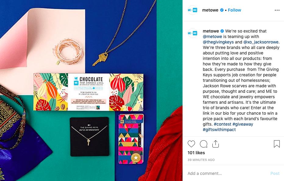 MetoWe instagram giveaway