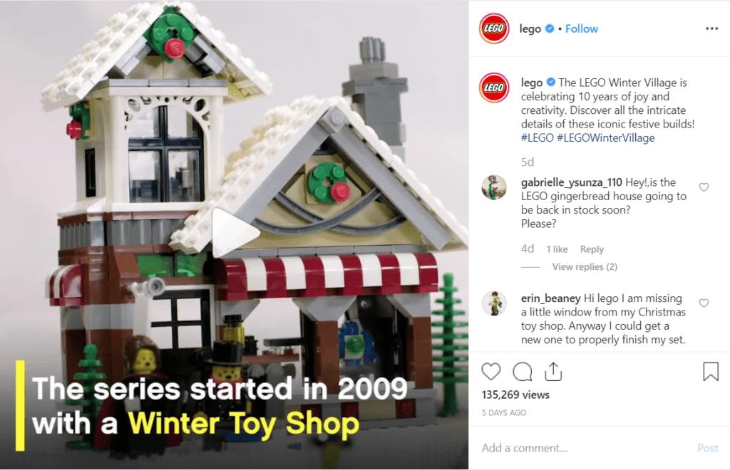 LEGO winter village post