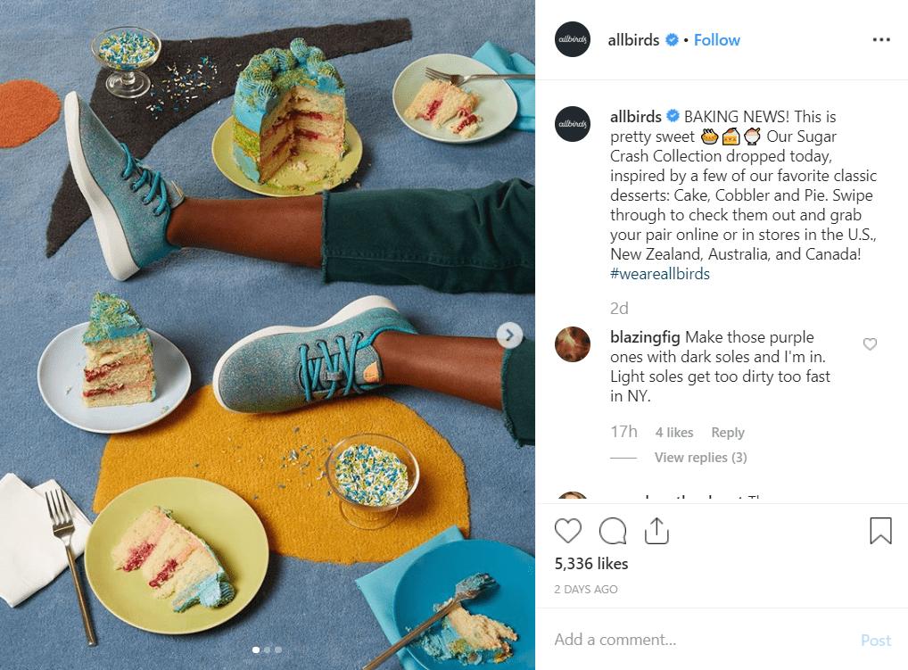 Allbirds instagram post