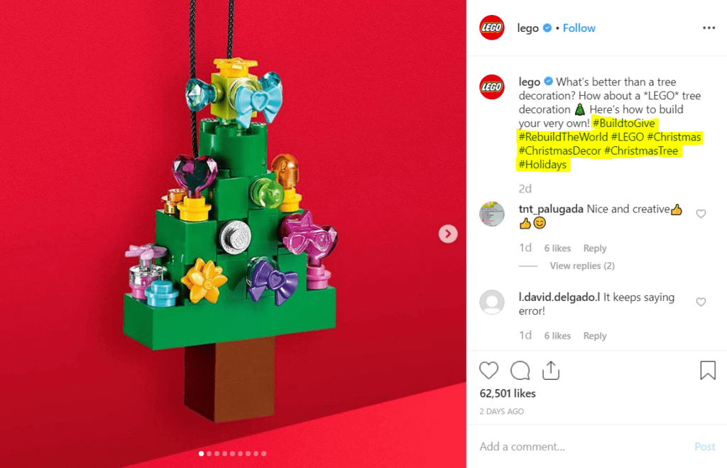LEGO Christmas post