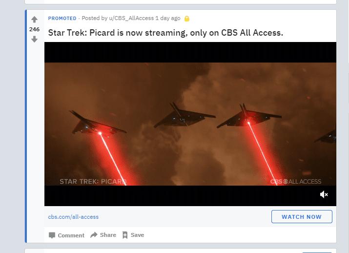 PPC marketing - Reddit ad example
