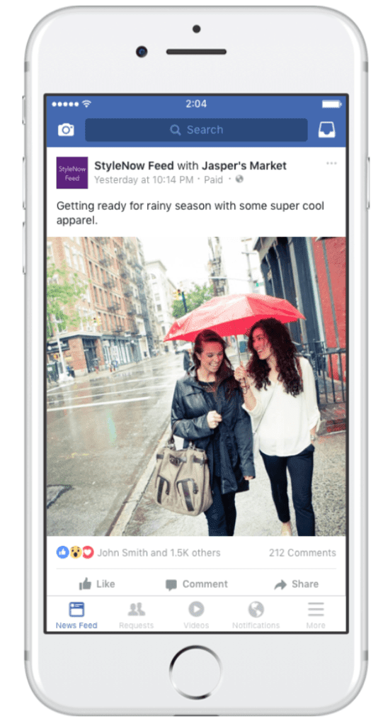 FB branded content tool