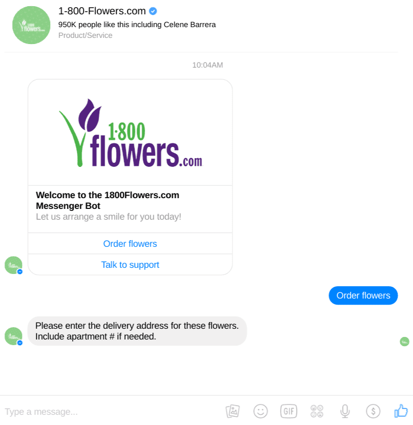 Facebook bot example