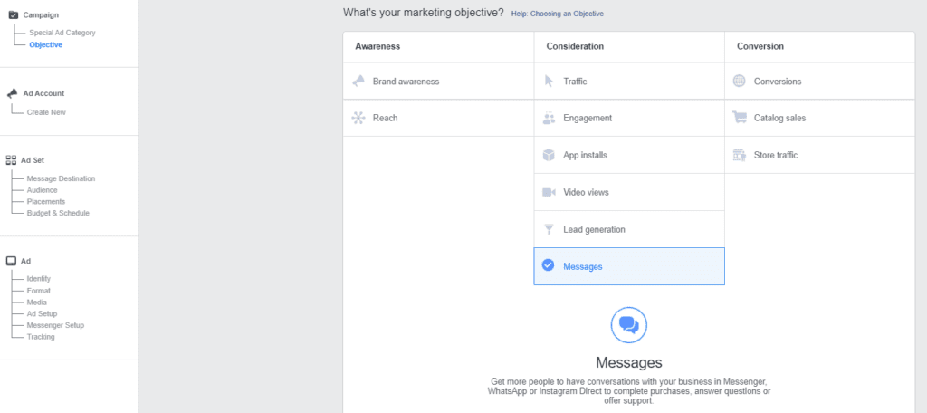 Facebook leads campaign step 1