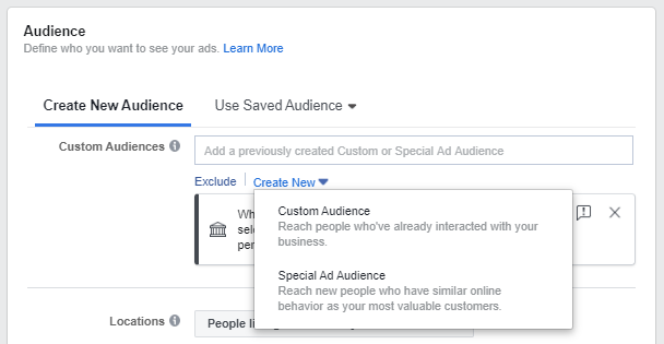 Create Special Ad Audience