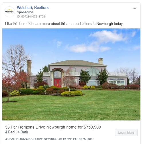 Housing ad example