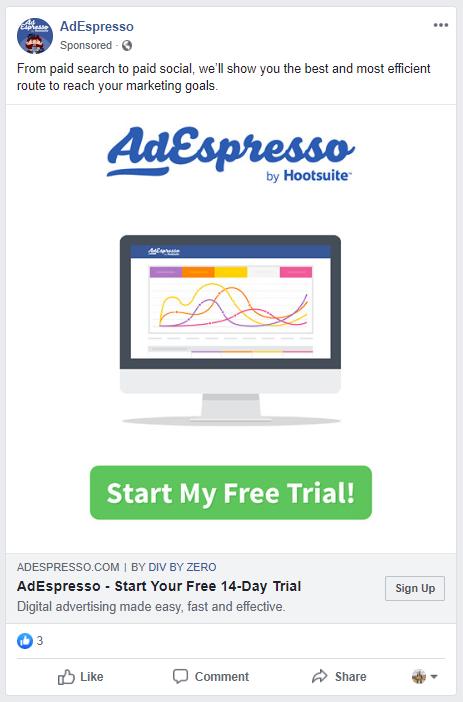 AdEspresso Free Trial Ad