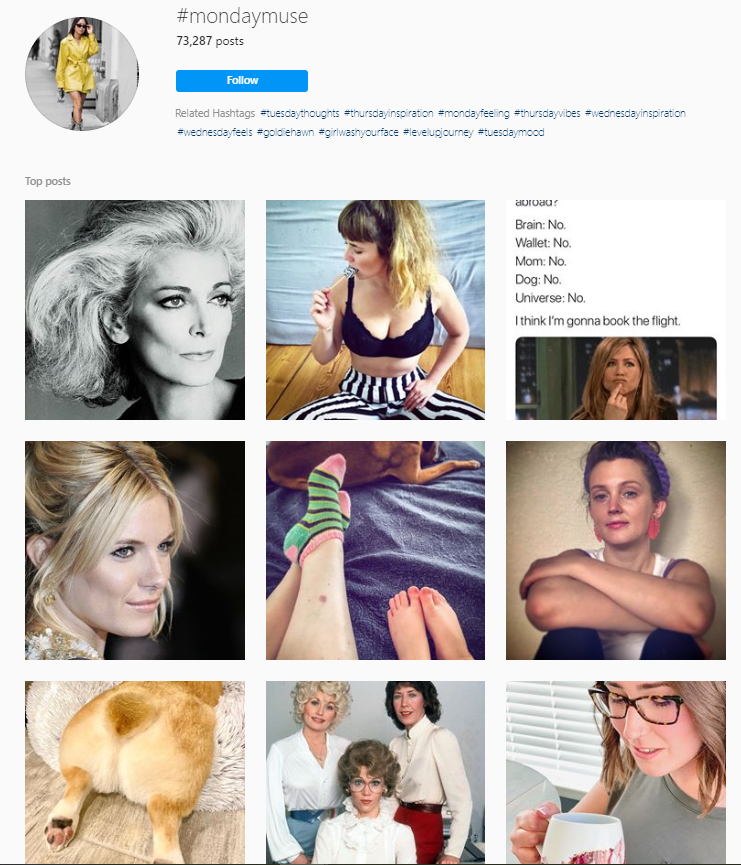 Mondaymuse Instagram hashtags