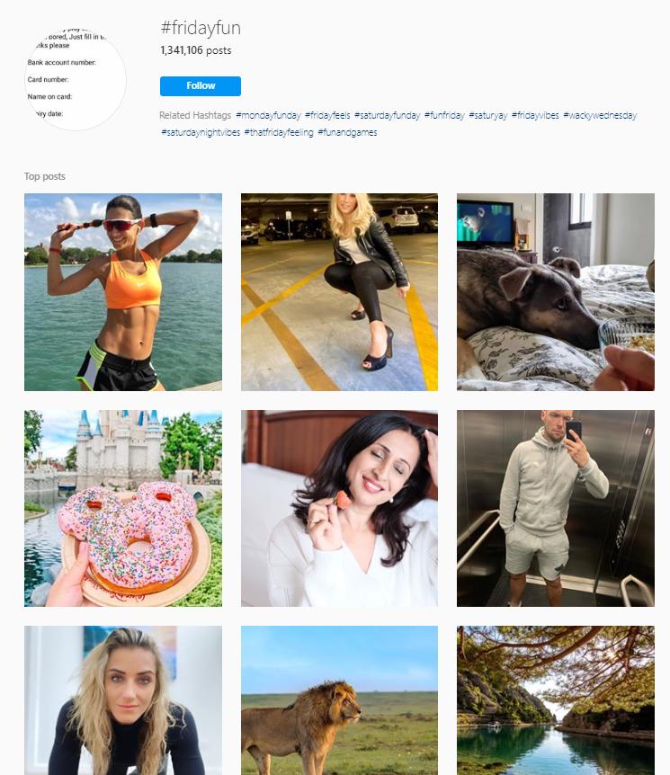 Fridayfun Instagram hashtags