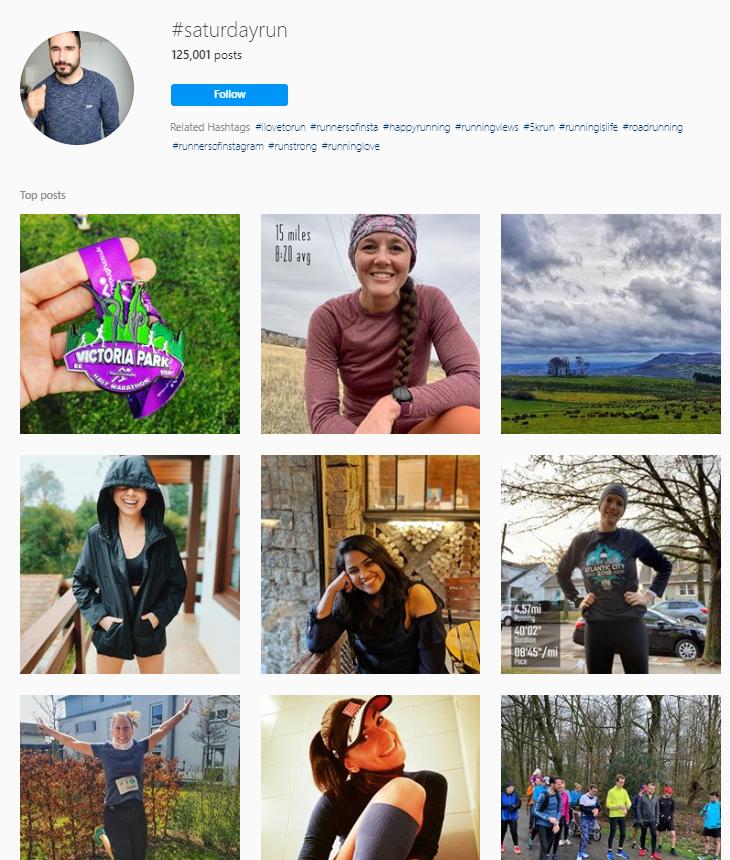 Saturdayrun Instagram hashtags
