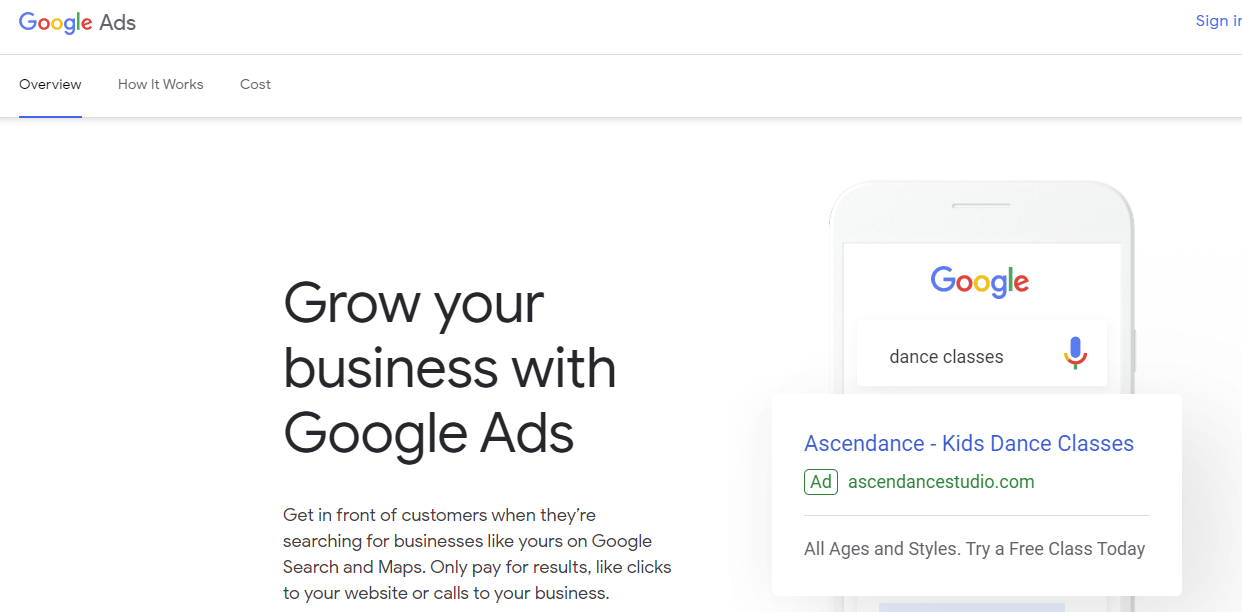 Digital advertising platforms - Google