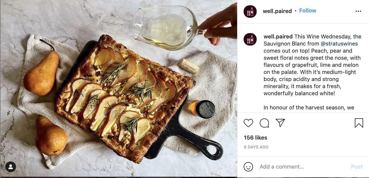 Instagram post example