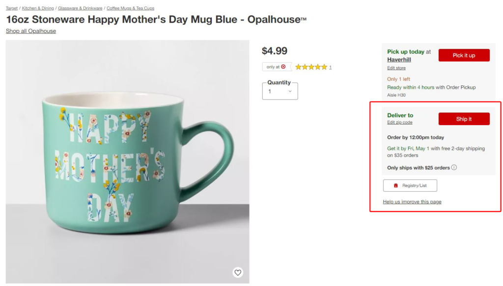 Target free shipping offer