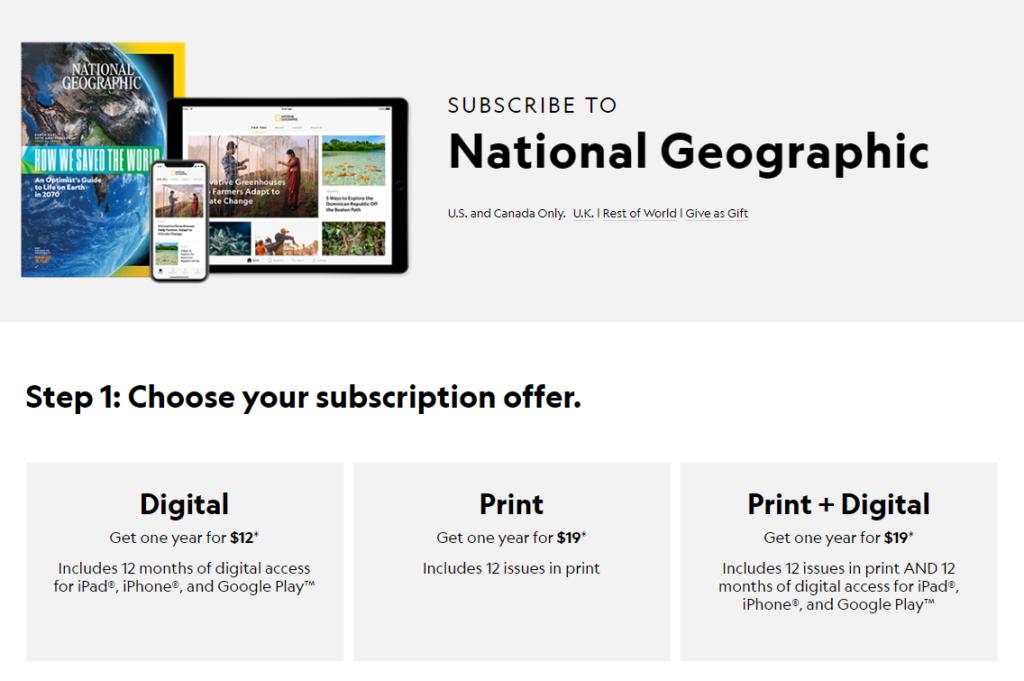 Nat Geo subscription site