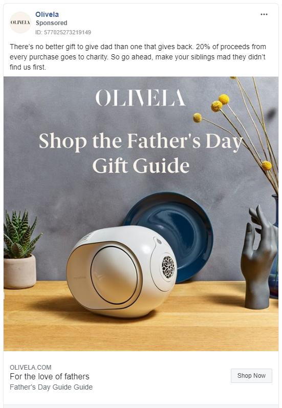 Olivela Instagram ad