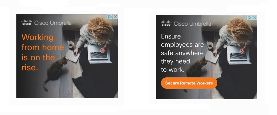 Cisco Umbrella banner ad
