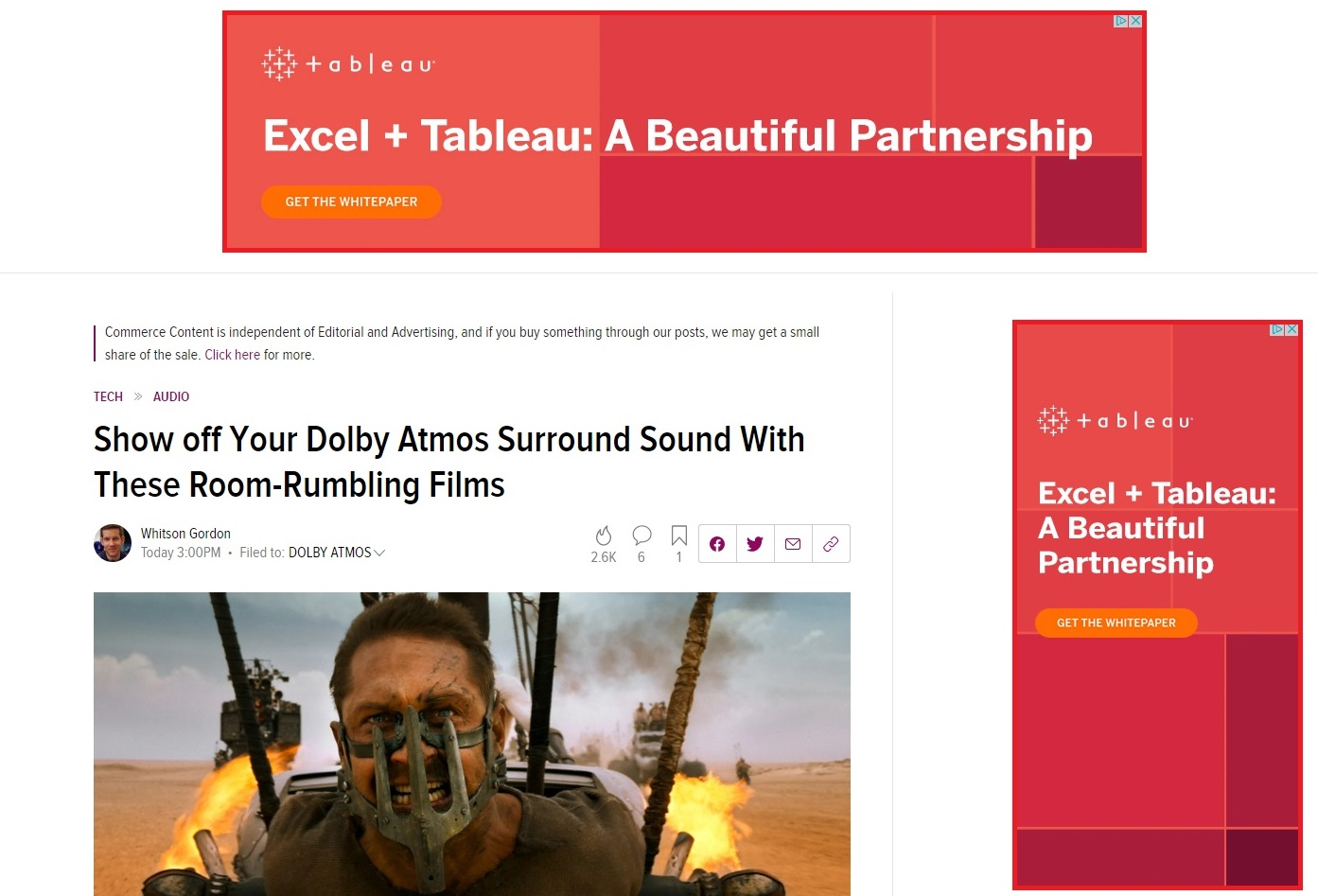 Two banner ad examples by Tableau