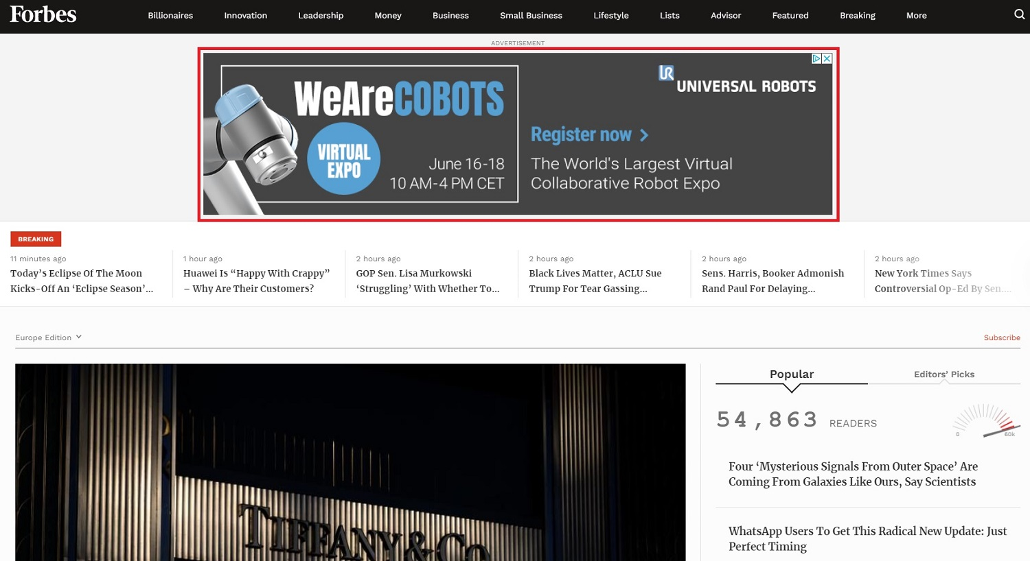 WeAreCobots banner ad