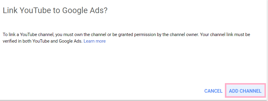 Link YouTube with Google Ads