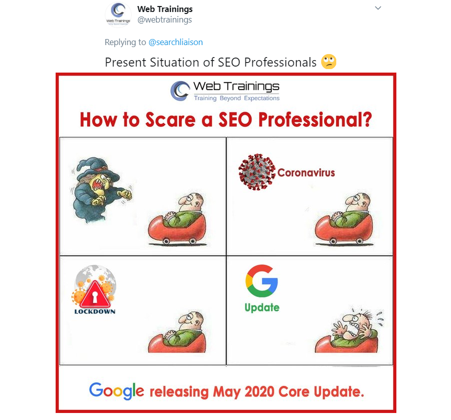 Google May 2020 Core Update Meme