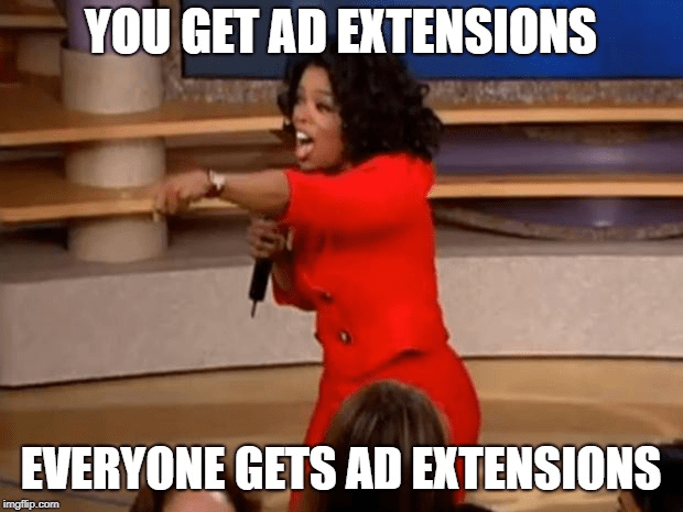 Everybody gets extensions meme