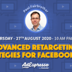 AdEspresso Webinar about advanced retargeting strategies for Facebok