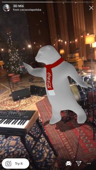 Coca Cola augmented reality bear