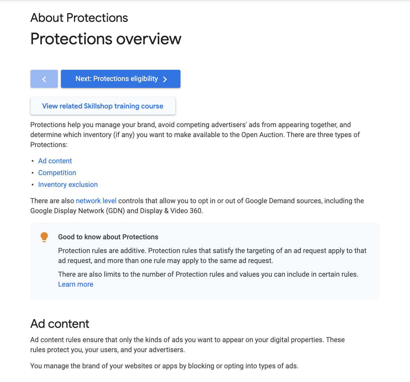 Google Ad Manager help page