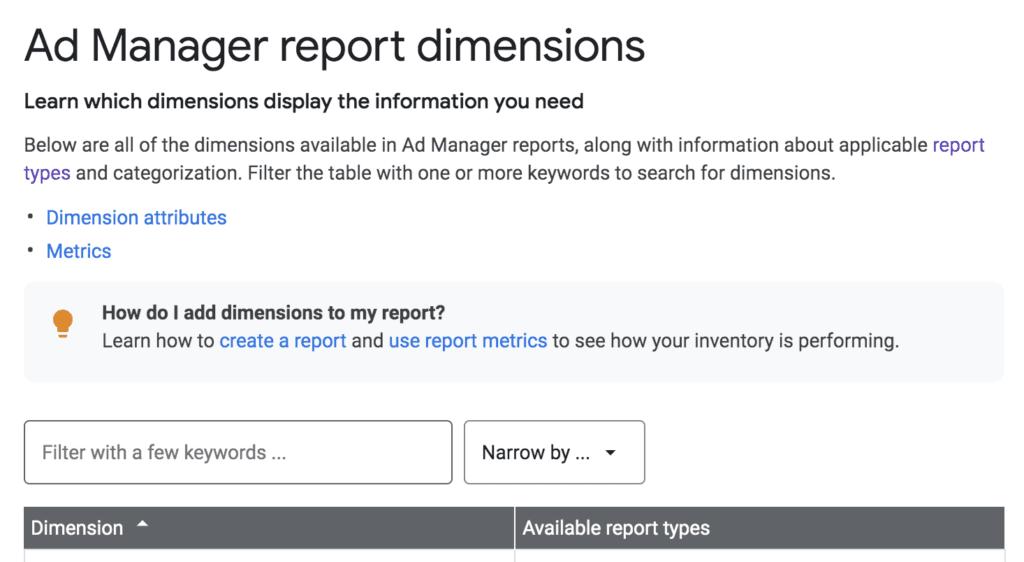 Google Ad Manager report generator