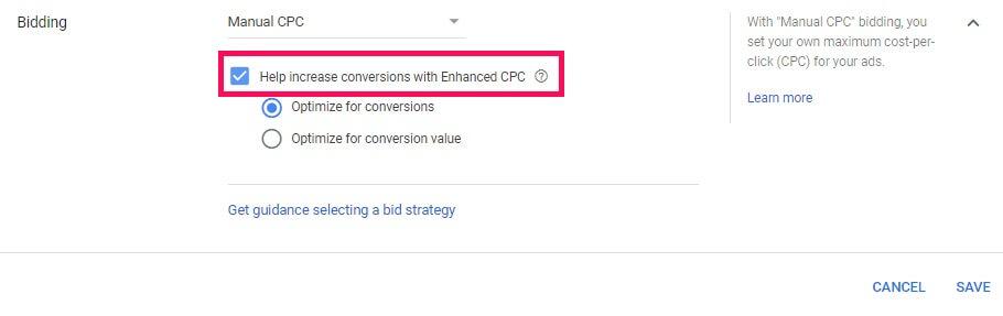 Enhanced CPC bidding strategy