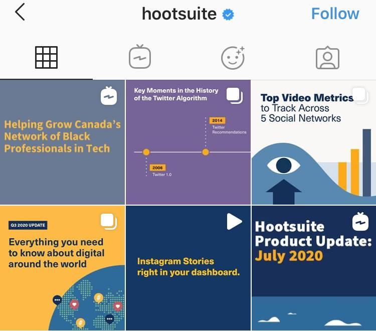 coherent branding hootsuite instagram feed