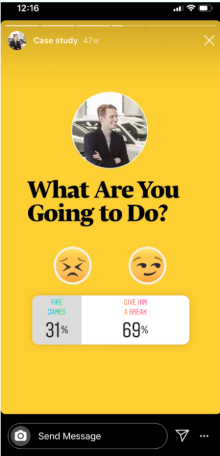instagram story polls and questions