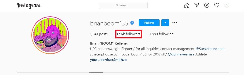 Brian Kelleher Instagram followers