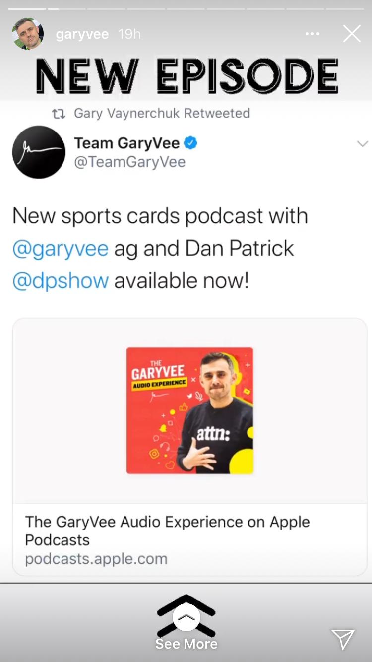 Instagram story swipe up podcast