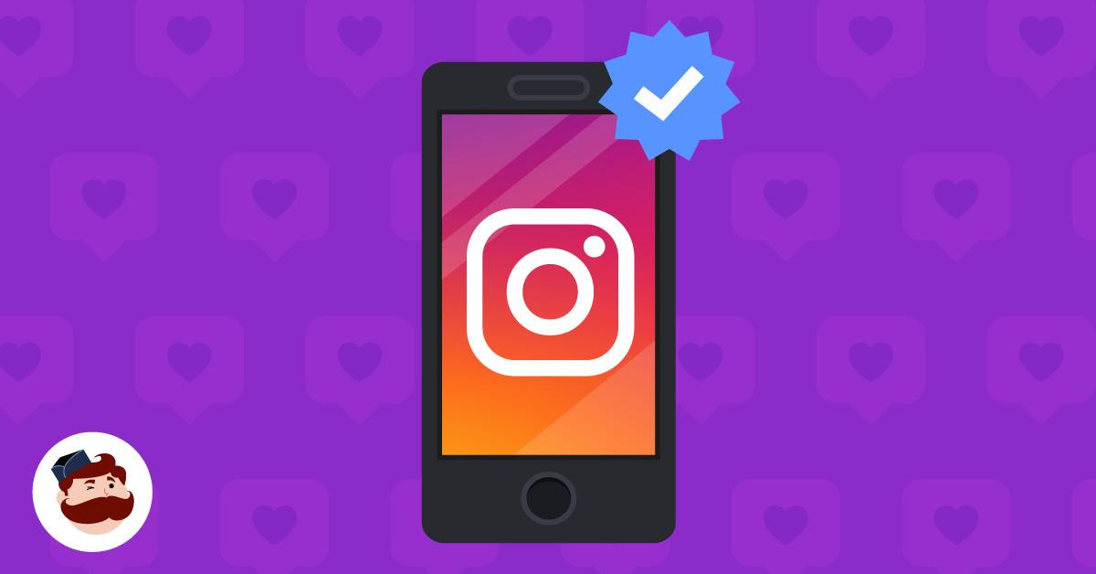 "instagram app with a blue ""verified"" checkmark"