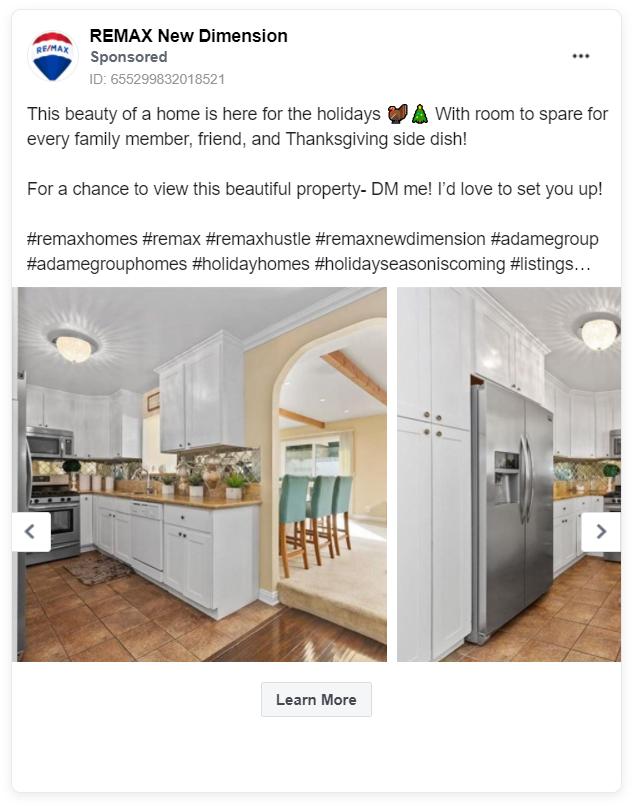 Remax FB real estate ad