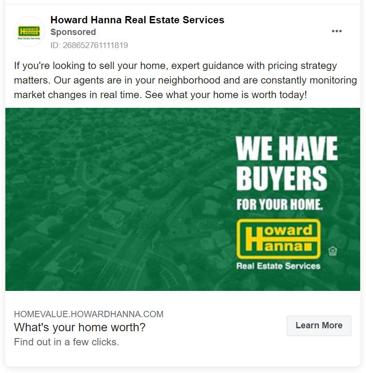 Howard Hanna real estate advertising