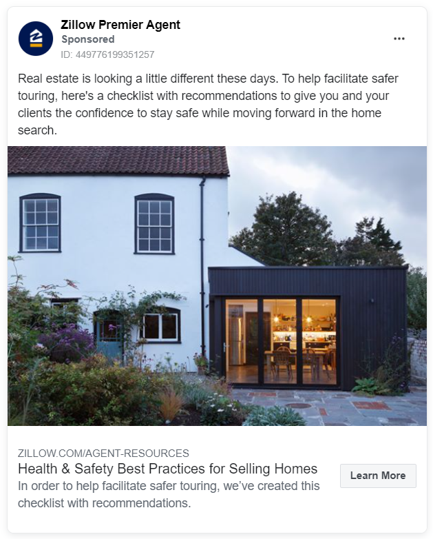 Zillow premier agent ad