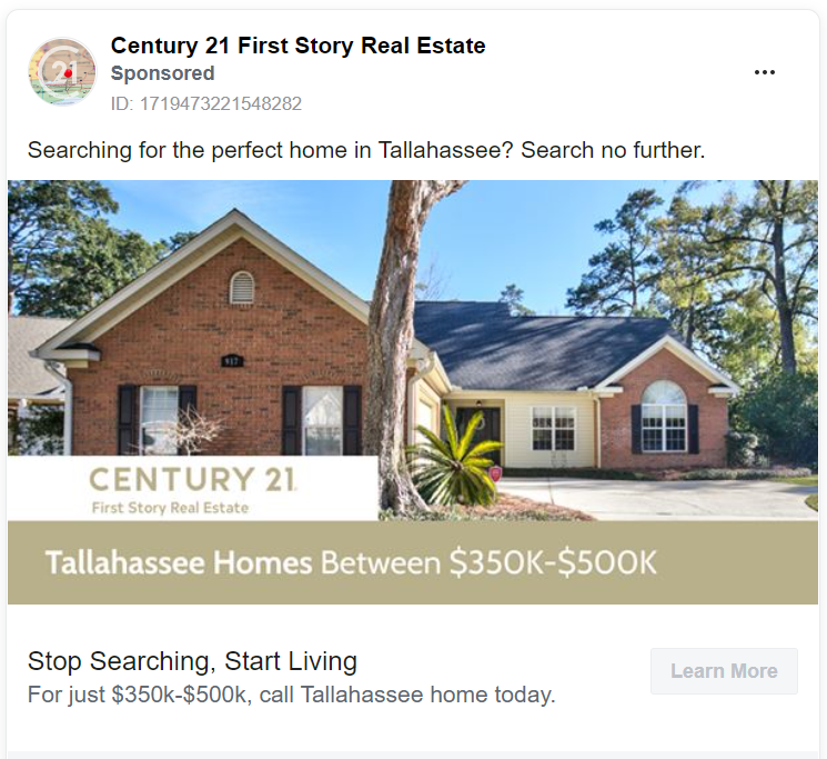 Century 21 real estate ad