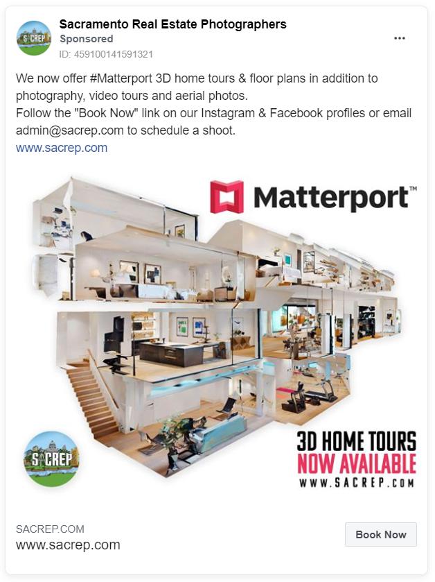 Sacramento real estate photographers ad