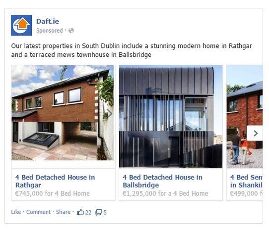 Daft.ie real estate advertising