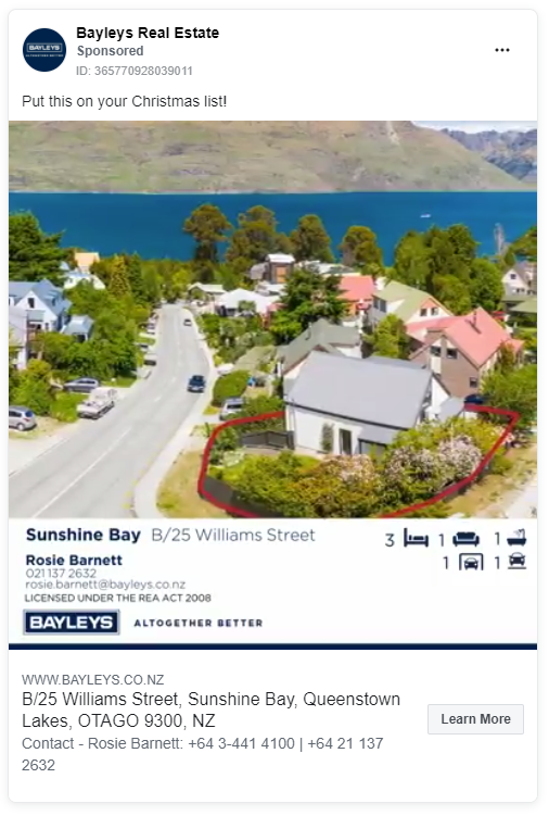 Bayleys real estate advertising