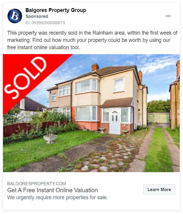 Balgores Property Group FB ad