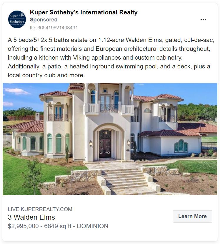Kuper Sotheby's International Realty ad