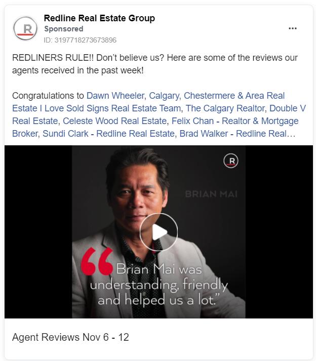 Redline real estate facebook ad example
