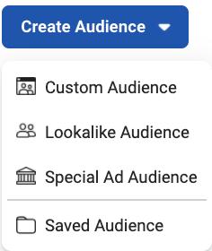 Custom audience selection in Facebook