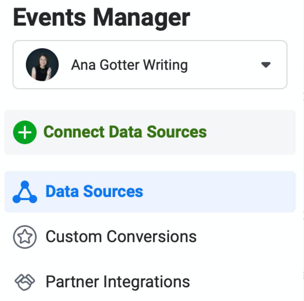 Image of the Facebook Events Manager