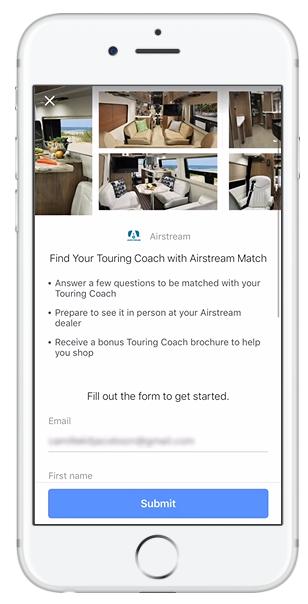 Screenshot of a Facebook Lead Ad.