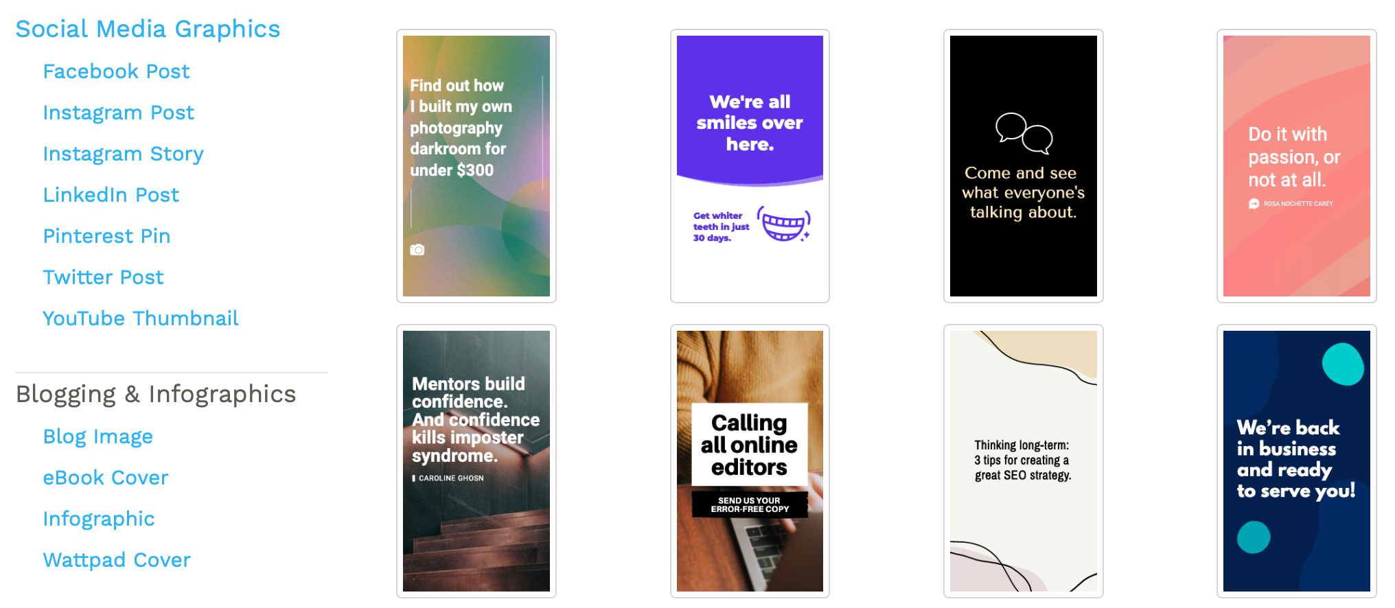 Snappa's templates for Instagram Stories