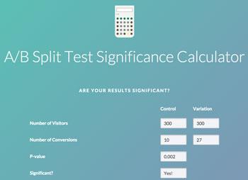 split testing significance calculator